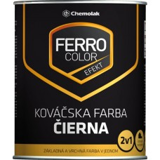 FERRO COLOR Efekt kováčska čierna